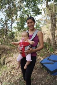 Luisa e a tia Thais, no Rubinho. Foto: arquivo pessoal.