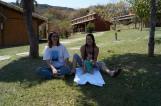 Eu, minha mãe e a Luisa na pousada na Serra do Cipó. Foto: arquivo pessoal.